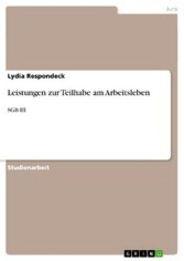 eBook Leistungen zur Teilhabe am Arbeitsleben Cover