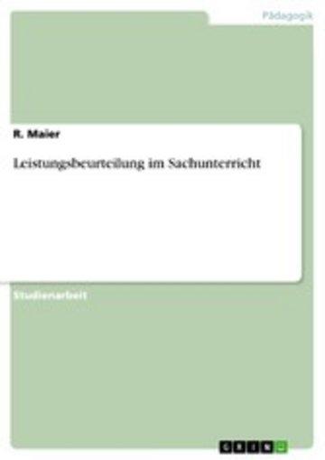eBook Leistungsbeurteilung im Sachunterricht Cover