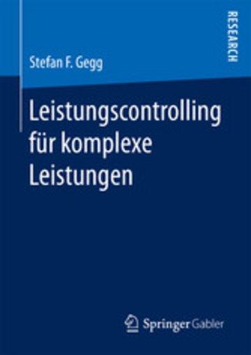 eBook Leistungscontrolling für komplexe Leistungen Cover
