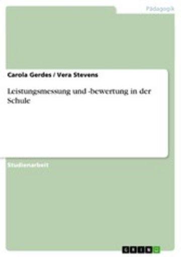 eBook Leistungsmessung und -bewertung in der Schule Cover