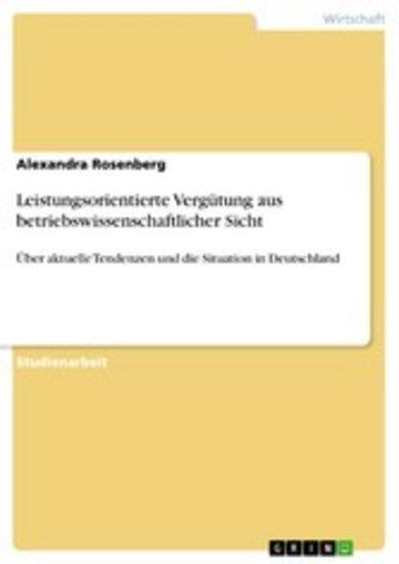 eBook Leistungsorientierte Vergütung aus betriebswissenschaftlicher Sicht Cover