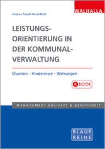 eBook Leistungsorientierung in der Kommunalverwaltung Cover