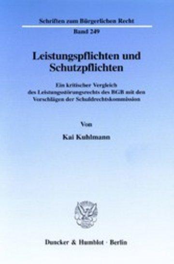 eBook Leistungspflichten und Schutzpflichten. Cover