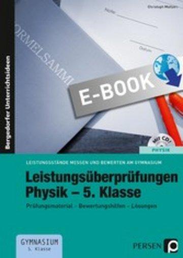 eBook Leistungsüberprüfungen Physik - 5. Klasse Cover
