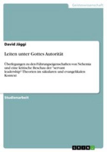 eBook Leiten unter Gottes Autorität Cover