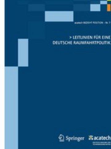 eBook Leitlinien für eine deutsche Raumfahrtpolitik Cover