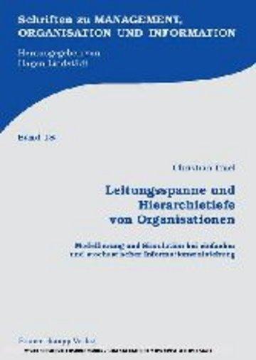 eBook Leitungsspanne und Hierarchietiefe von Organisationen Cover