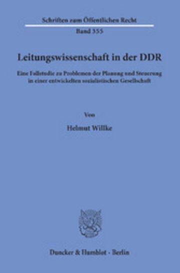 eBook Leitungswissenschaft in der DDR. Cover
