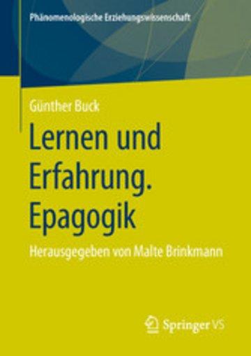 eBook Lernen und Erfahrung. Epagogik Cover