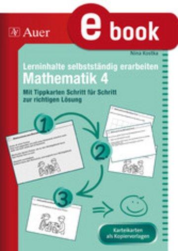 eBook Lerninhalte selbstständig erarbeiten Mathematik 4 Cover