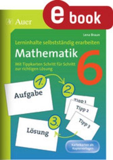 eBook Lerninhalte selbstständig erarbeiten Mathematik 6 Cover