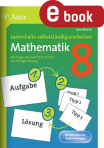 eBook Lerninhalte selbstständig erarbeiten Mathematik 8 Cover