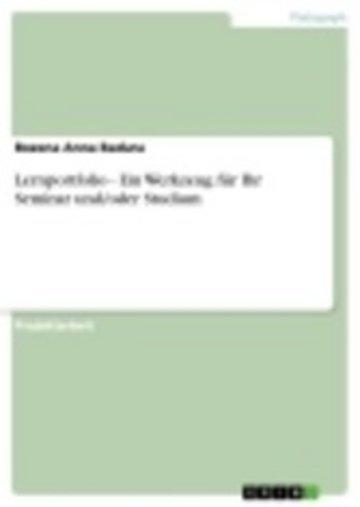 eBook Lernportfolio - Ein Werkzeug für Ihr Seminar und/oder Studium Cover