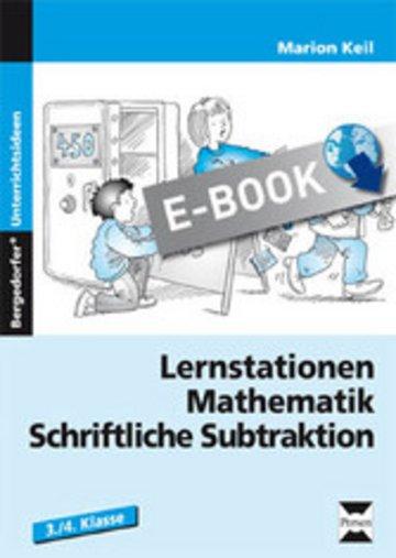 eBook Lernstationen Mathematik: Schriftliche Subtraktion Cover