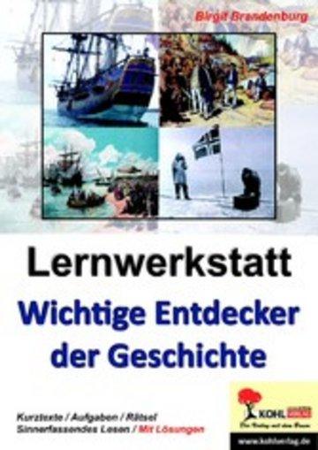 eBook Lernwerkstatt Wichtige Entdecker der Geschichte Cover