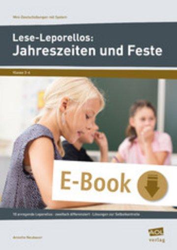eBook Lese-Leporellos: Jahreszeiten und Feste Kl. 3/4 Cover