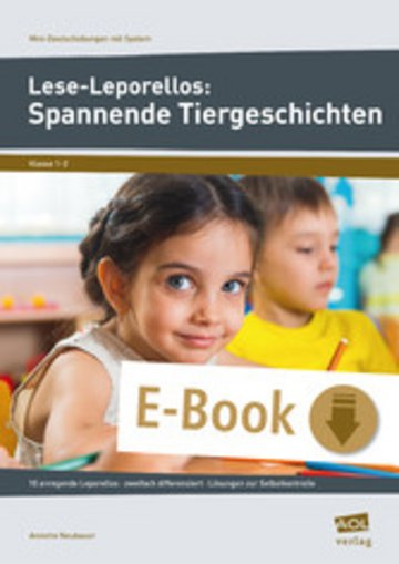 eBook Lese-Leporellos: Spannende Tiergeschichten Kl. 1/2 Cover