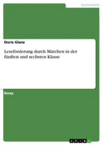 eBook Leseförderung durch Märchen in der fünften und sechsten Klasse Cover