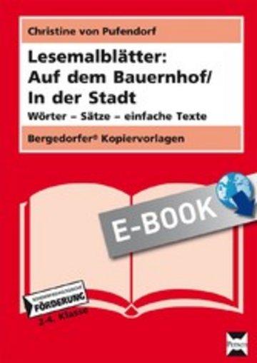 eBook Lesemalblätter: Auf dem Bauernhof / In der Stadt Cover