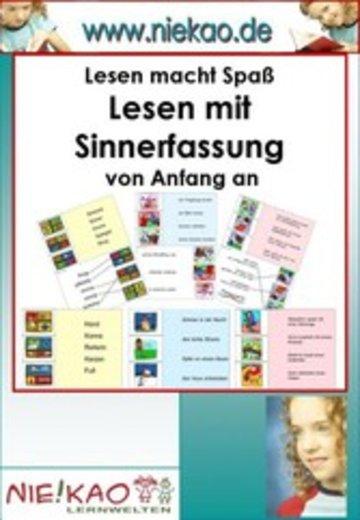 eBook Lesen mit Sinnerfassung von Anfang an - Kartei ab Kl.1 Cover