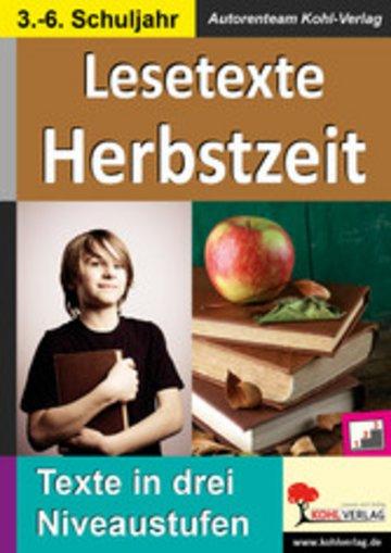 eBook Lesetexte HERBSTZEIT Cover