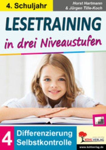 eBook Lesetraining in drei Niveaustufen / Klasse 4 Cover
