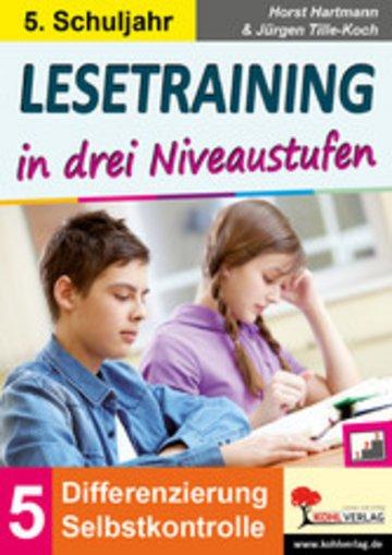 eBook Lesetraining in drei Niveaustufen / Klasse 5 Cover