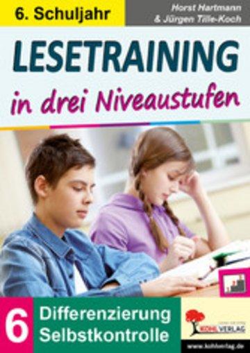 eBook Lesetraining in drei Niveaustufen / Klasse 6 Cover