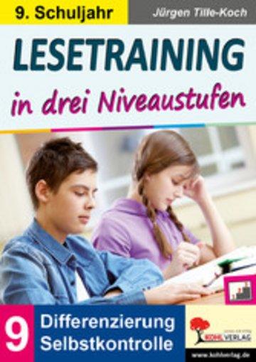 eBook Lesetraining in drei Niveaustufen / Klasse 9 Cover