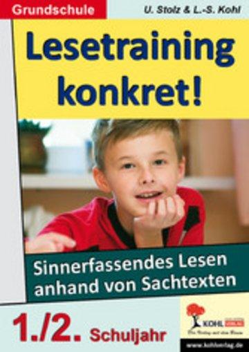 eBook Lesetraining konkret! / Klasse 1-2 Cover
