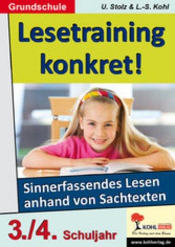 eBook Lesetraining konkret! / Klasse 3-4 Cover