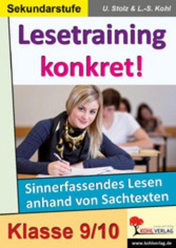 eBook Lesetraining konkret! / Klasse 9-10 Cover