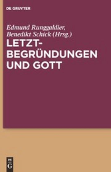 eBook Letztbegründungen und Gott Cover