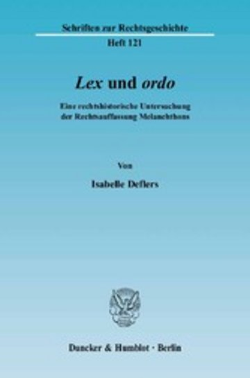 eBook Lex und ordo. Cover