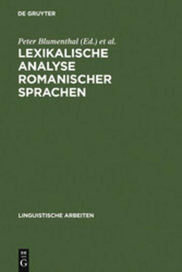 eBook Lexikalische Analyse romanischer Sprachen Cover