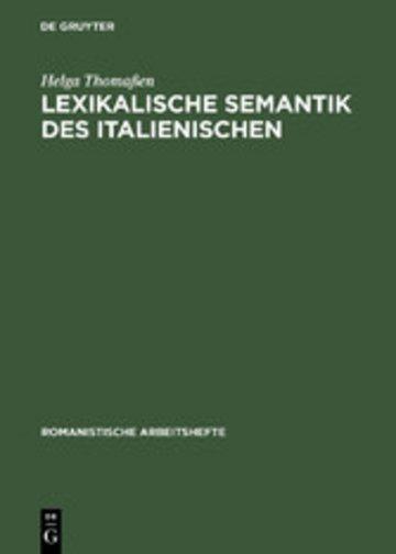 eBook Lexikalische Semantik des Italienischen Cover
