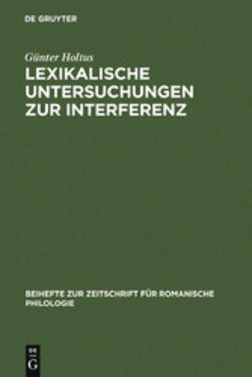 eBook Lexikalische Untersuchungen zur Interferenz Cover