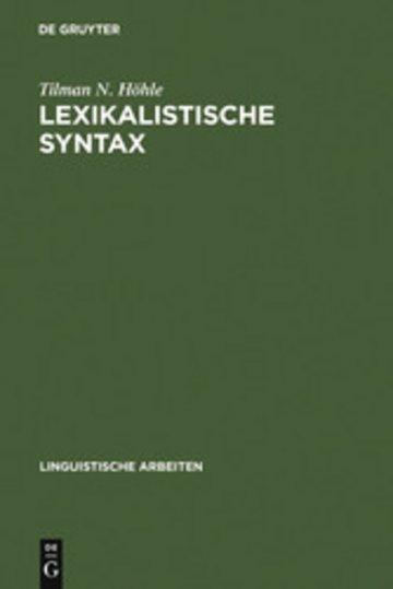 eBook Lexikalistische Syntax Cover