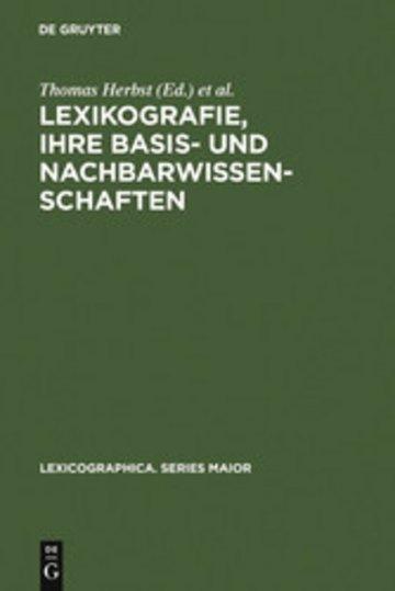 eBook Lexikografie, ihre Basis- und Nachbarwissenschaften Cover
