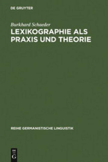 eBook Lexikographie als Praxis und Theorie Cover