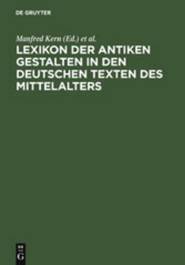 eBook Lexikon der antiken Gestalten in den deutschen Texten des Mittelalters Cover