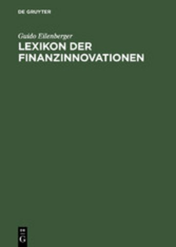 eBook Lexikon der Finanzinnovationen Cover