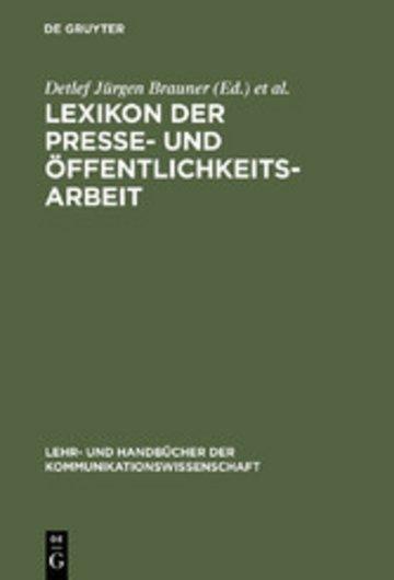 eBook Lexikon der Presse- und Öffentlichkeitsarbeit Cover