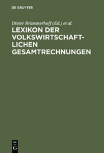 eBook Lexikon der Volkswirtschaftlichen Gesamtrechnungen Cover