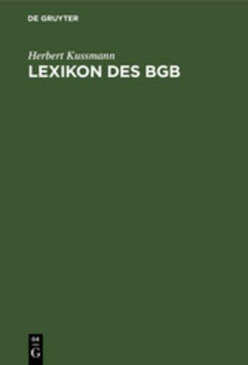 eBook Lexikon des BGB Cover