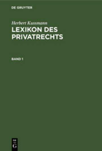 eBook Lexikon des Privatrechts Cover