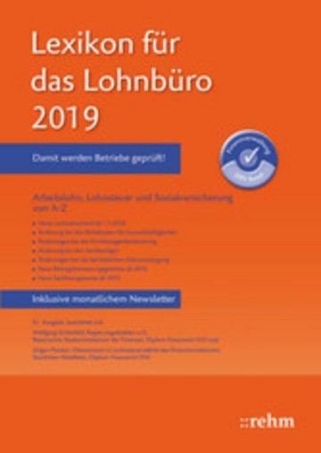 eBook Lexikon für das Lohnbüro 2019 (E-Book PDF) Cover