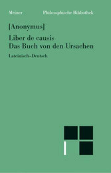 eBook Liber de causis. Das Buch von den Ursachen Cover
