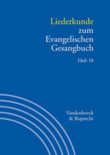 eBook Liederkunde zum Evangelischen Gesangbuch. Heft 18 Cover
