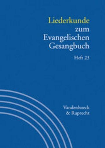eBook Liederkunde zum Evangelischen Gesangbuch. Heft 23 Cover
